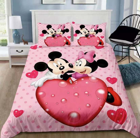Minnie Mouse Quilt Cover Set QUEEN