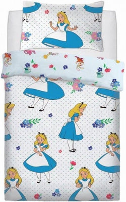 Alice in Wonderland Single Quilt Cover Set