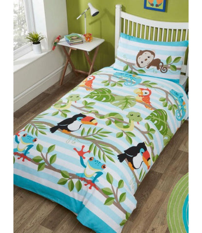 PRE ORDER Rainforest Jungle Single Quilt Cover Set