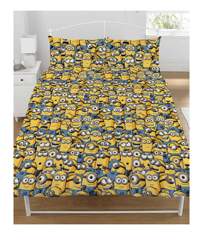 Double To Queen Quilt Cover Set - Minion