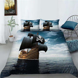 PRE ORDER Pirate Ship - Boat Quilt Cover Set