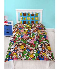 MARIO Polyester Single Quilt Cover Set
