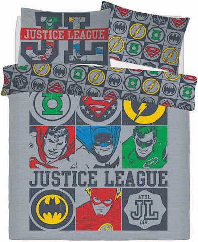 Justice League Double to Queen Quilt Cover Set