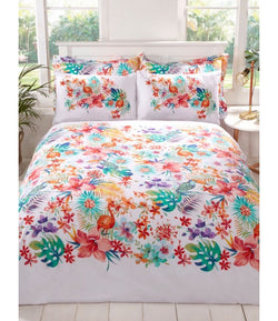 Tropical Rainforest Flower Single Quilt Cover Set