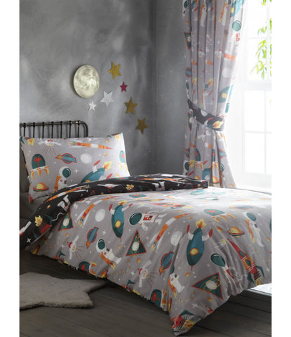 Space planets Single Quilt Cover Set