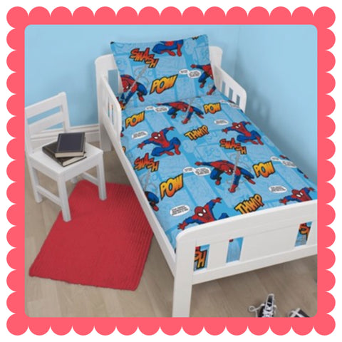 SPIDERMAN - Toddler Bed/Cot VALUE PACK