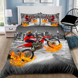 Motorbike Dirt Bike Quilt Cover Set