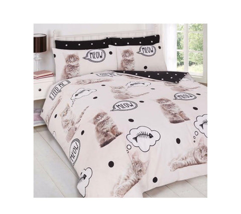 Cat Single Quilt Cover Set