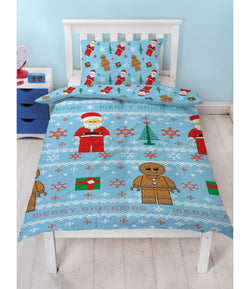 PRE ORDER Lego Christmas Single Quilt Cover Set