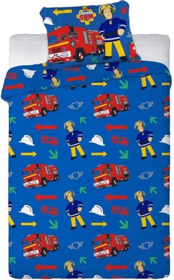 Fireman Sam Single Quilt Cover Set