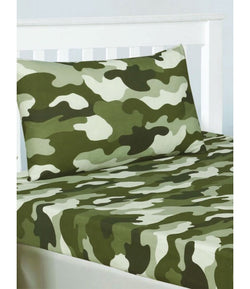 ARMY CAMO Single fitted sheet & Pillowcase