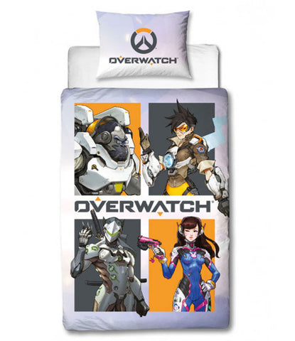 Overwatch Grid Single Quilt Cover Set
