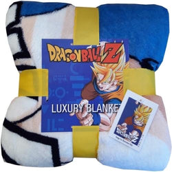 DragonBall Z Throw Size Fleece Blanket (SUPER SOFT)