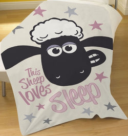 Shaun the Sheep Throw Size Fleece Blanket (SUPER SOFT)