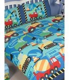 Construction Trucks Double to Queen Quilt Cover Set