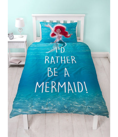 Mermaid Ariel Single Quilt Cover Set