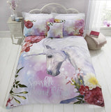 Unicorn King Size Quilt Cover Set