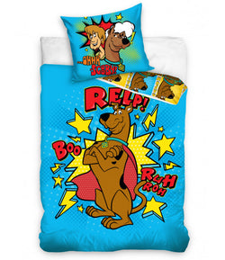 Scooby Doo Blue Single Quilt Cover Set EURO CASE