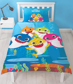 PRE ORDER Baby Shark Single Quilt Cover Set