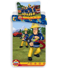 PRE ORDER Fireman Sam Cotton Single quilt cover set EU Case