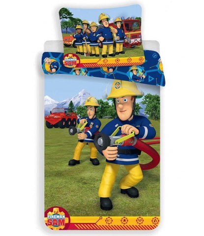 Fireman Sam Cotton Single quilt cover set EU Case