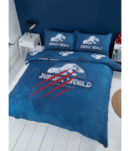 Jurassic World Dinosaur Reversible Double to Queen Quilt Cover Set