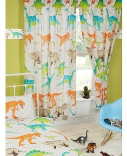 PRE ORDER Dinosaur Curtains 72 inch drop