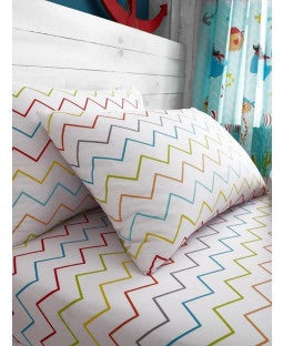 ZIG ZAG Single fitted sheet & Pillowcase