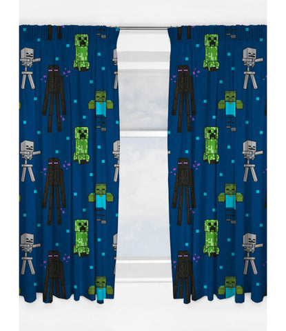 PRE ORDER MINECRAFT CREEPS Curtains 72 inch drop