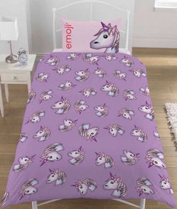 Emoji Unicorn Single Quilt Cover Set