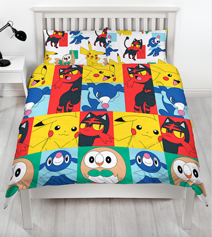 Double to Queen Quilt Cover Set - Pokemon