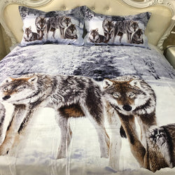 PRE ORDER Queen Quilt Cover Set - Wolf Wolves