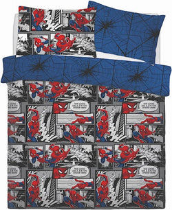 Spiderman Double to Queen Quilt Cover Set