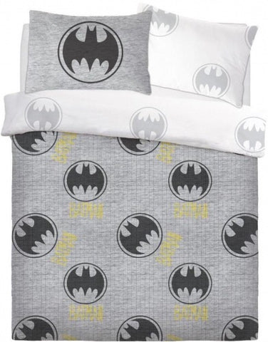 Batman Grey Double to Queen Quilt Cover Set