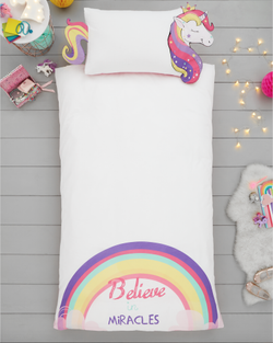 Unicorn 3D Single Quilt Cover Set