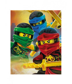 Lego Ninjago Throw Size Fleece Blanket