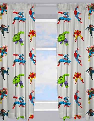 PRE ORDER Marvel Avengers Curtains 72 inch drop
