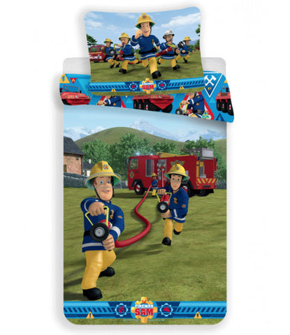 FIREMAN SAM Single quilt cover set EURO Case