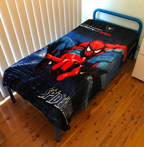 Spider-Man single faux mink blanket