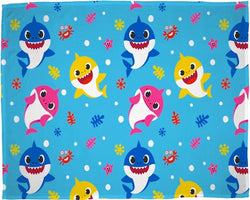 PRE ORDER Baby Shark Throw Size Fleece Blanket (SUPER SOFT)