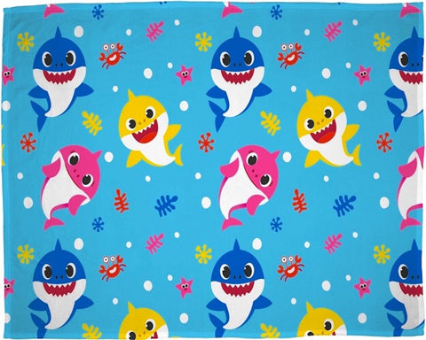 Baby Shark Throw Size Fleece Blanket (SUPER SOFT)