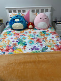 Tropical Flowers Double to Queen Quilt Cover Set