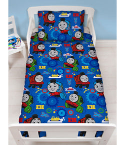 Thomas The Tank Engine - Toddler Bed/Cot Quilt Cover Set