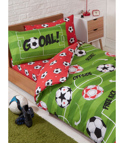 SOCCER Toddler bed/cot Quilt Cover Set