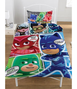 PRE ORDER Pj Masks Single Quilt Cover Set