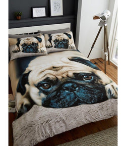 Pug Double to Queen Quilt Cover Set