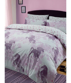 PRE ORDER JUNE Double Quilt Cover Set - Unicorn