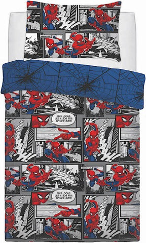 Spiderman Single Quilt Cover Set