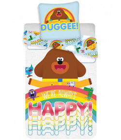 Hey Duggee Happy Single Quilt Cover Set