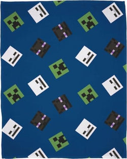 Minecraft Throw Size Fleece Blanket (SUPER SOFT)